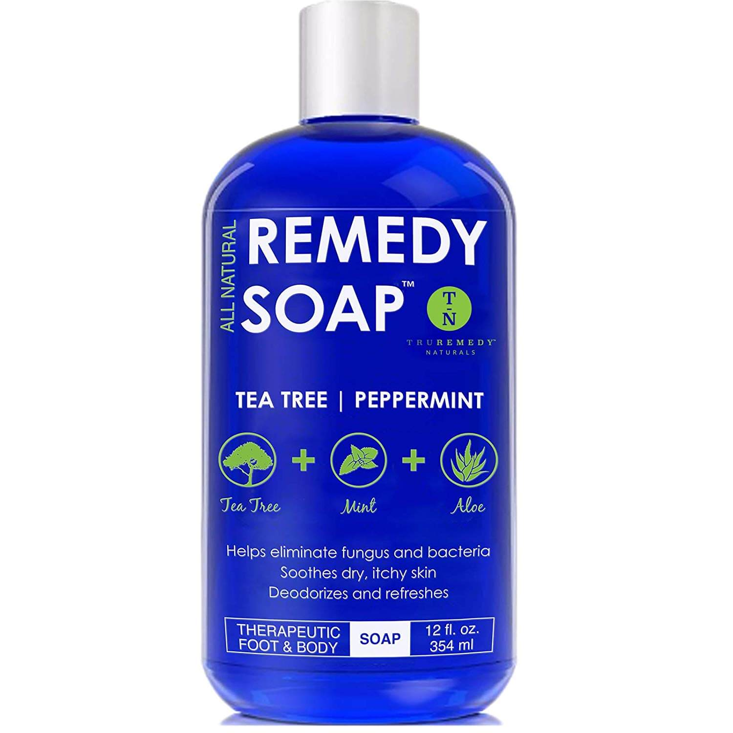 Remedy soap tea tree oil body wash is a product of Honestie Naturals. This product ranks second on this list due to its fantastic function. This remedy soap is formulated with premium organic and natural ingredients, including tea tree oil, peppermint oil, eucalyptus oil, olive oil, and so on. These premium natural ingredients play a vital role in improving stubborn skin irritations as well as moisturizing your skin amazingly. Besides, you may rest assured that there are no harmful chemical preservatives, synthetic fragrances, or silicone.